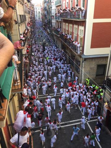end of street in pamplona